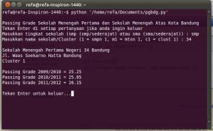 Python - Passing Grade SMPN 34 Bandung