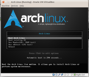 Arch Linux on VirtualBox