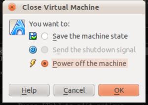 Close Virtual Machine